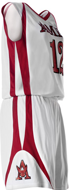 Womens Reversible Basketball Uniform Package with Graphics
