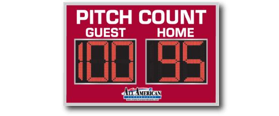 All American Scoreboards Baseball Pitch Count 8300PC