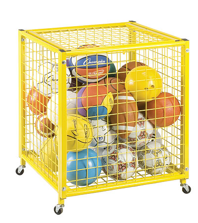 Champion Sports Locking Ball Storage Cart   LRCS