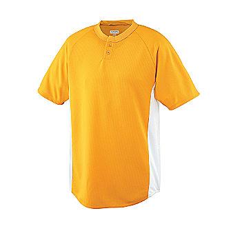 Augusta Sportswear Youth Wicking Two-Button Baseball Jersey